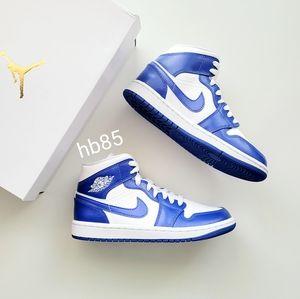 "Air Jordan 1 Mid White Hyper Royal White ""Kentucky Blue"" Women's 6.5"